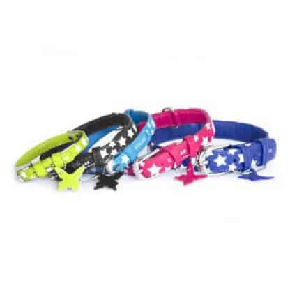 Collar glamour läderhalsband