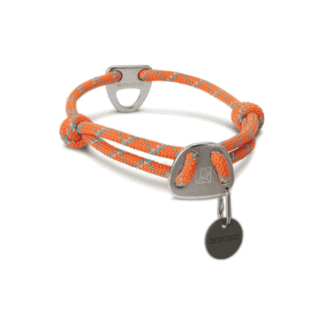 Knot a Collar hundhalsband orange hos Hundliv