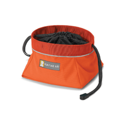 Ruffwear Quencher Cinch Top reseskål orange hos Hundlvi