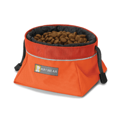 Ruffwear Quencher Cinch Top reseskål orange hos Hundliv