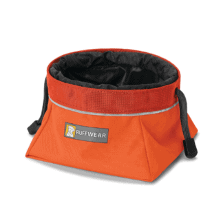 Ruffwear Quencher Cinch Top reseskål orange hos Hundliv