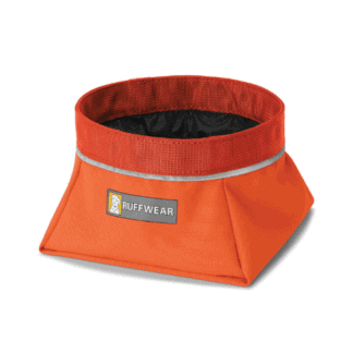 Ruffwear Quencher reseskål orange hos Hundliv
