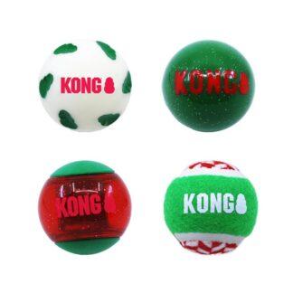 KONG Julleksak Occasions Balls 4p Flerfärgad M 6cm