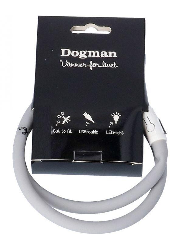dogman ledhalsband silikon grå
