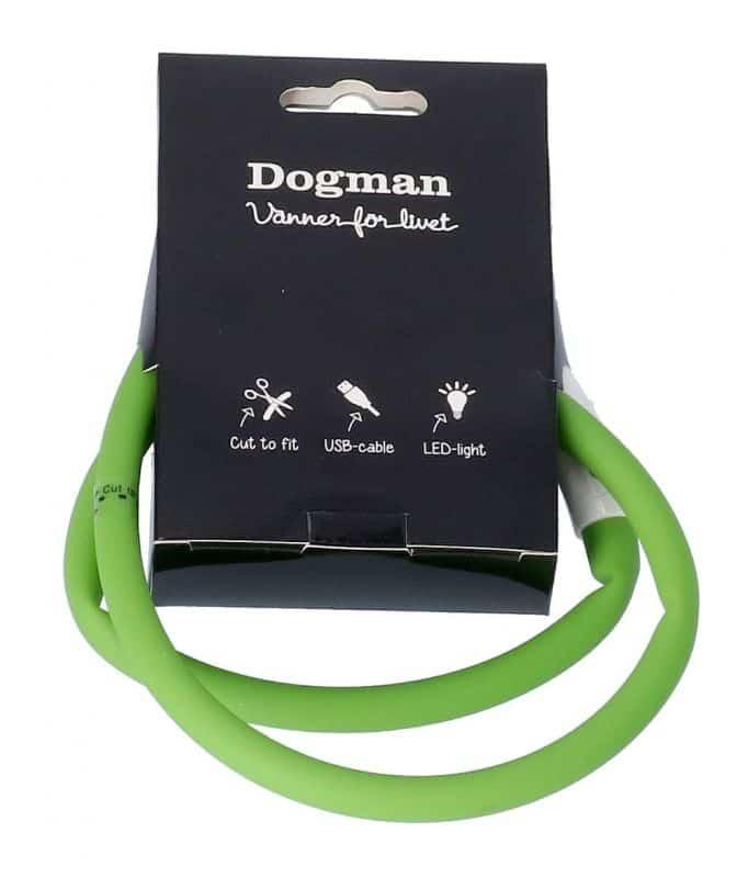 dogman ledhalsband silikon grön
