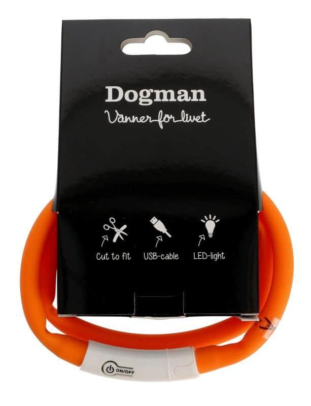 dogman ledhalsband silikon orange